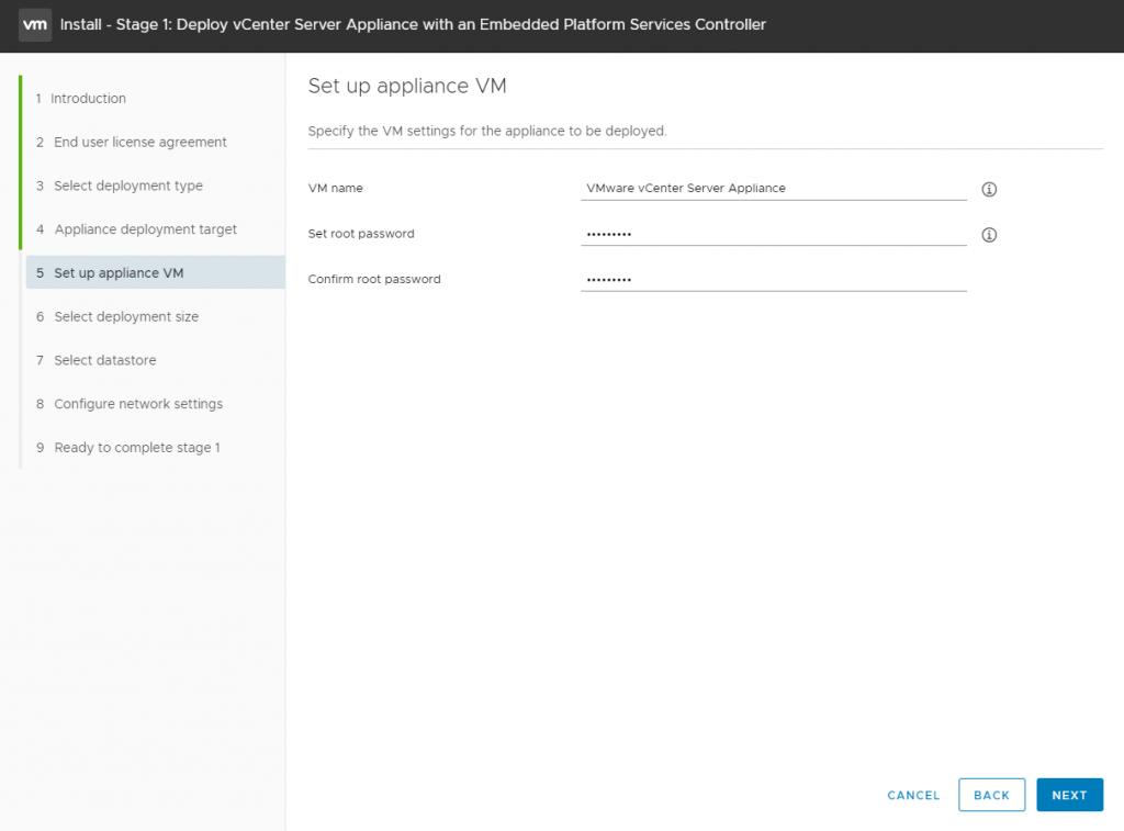 vCenter Server Appliance - root password